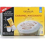 Gevalia Kaffe K-Cup & Froth Packets, 6 Count - Pack of 2 -Caramel Macchiato (Caramel Macchiato)