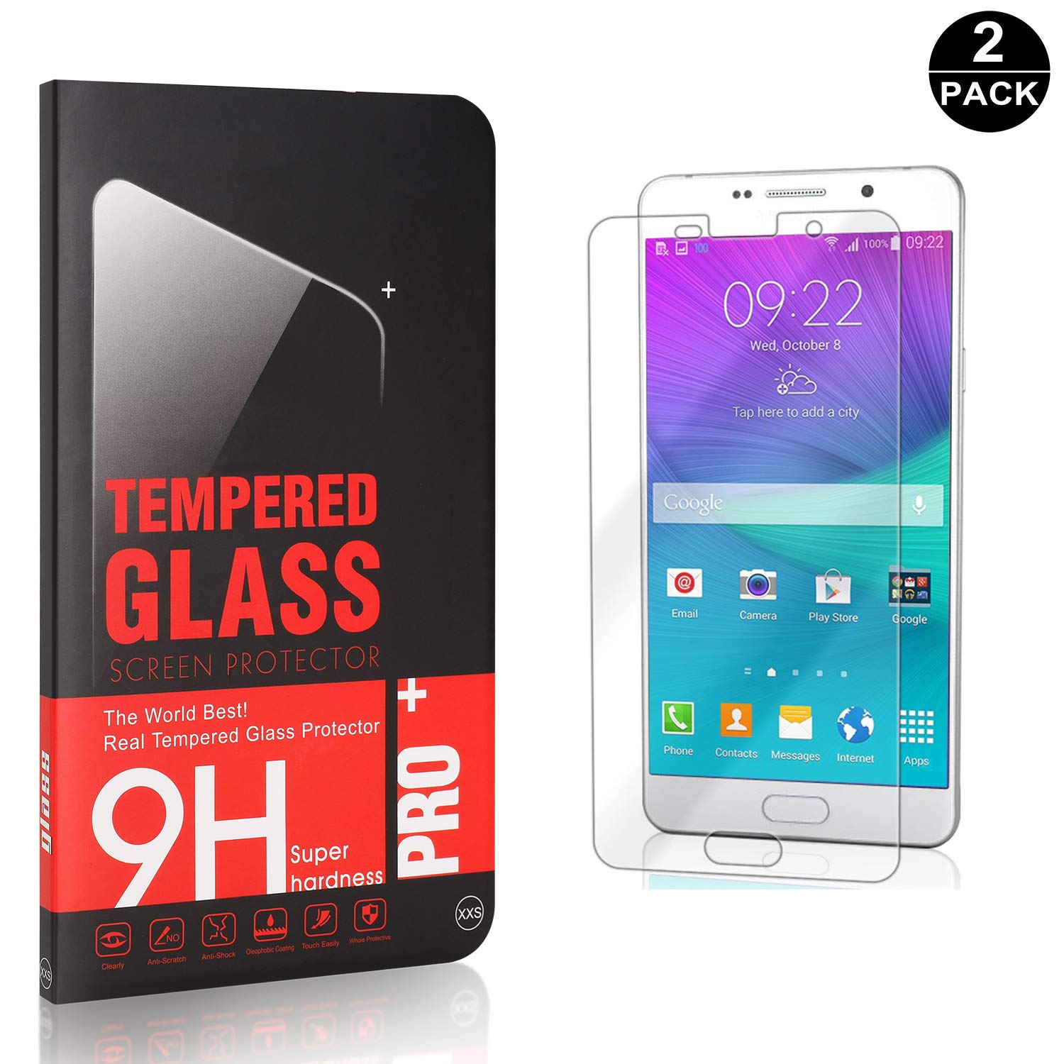 Screen Protector Compatible with Galaxy A6S 4 Pack UNEXTATI Premium HD Anti Scratch Tempered Glass Screen Protector Film for Samsung Galaxy A6S