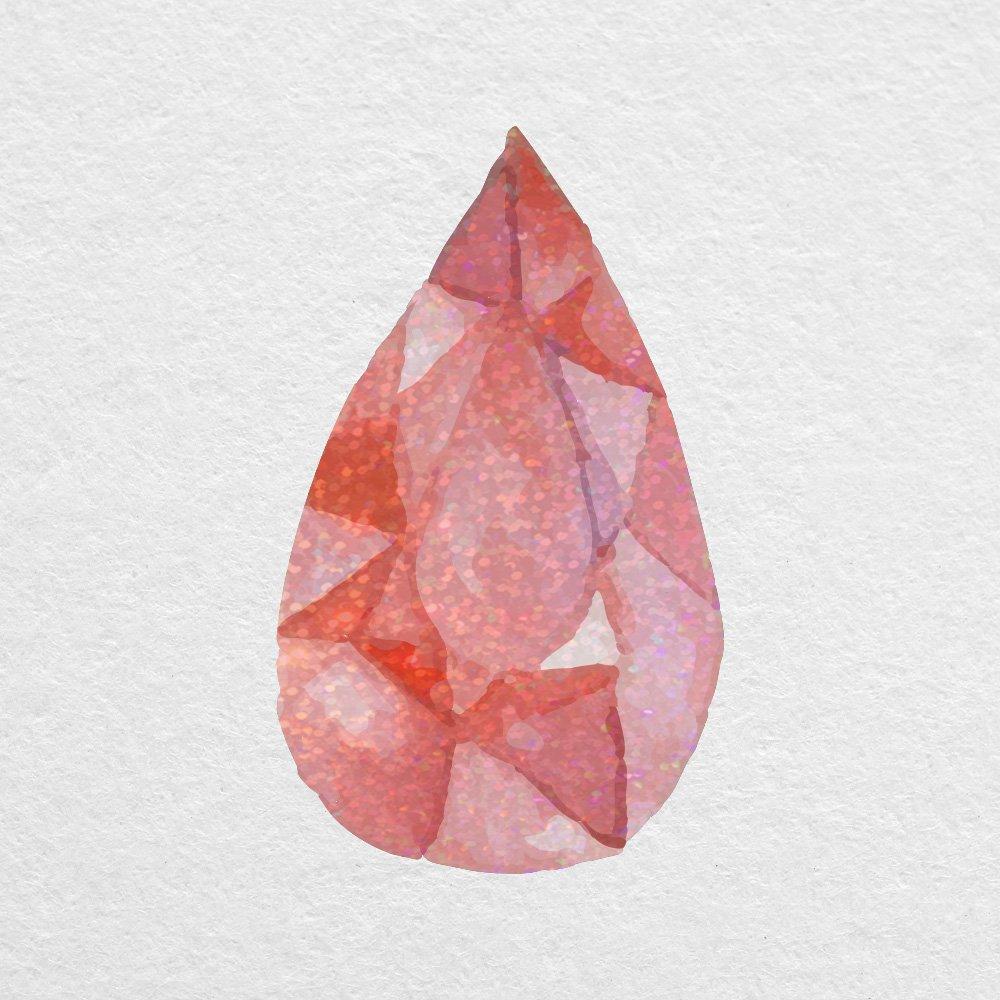 Amazon com: Garnet Ruby Watercolor Gem - 8