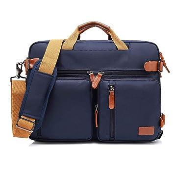 TZZ Mochila Convertible Messenger Bag Bolso Bandolera Laptop Case Bolso Business Maletín Mochila de Viaje Multifuncional Se Adapta a 22 Pulgadas Laptop para ...