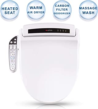 Lotus Smart Bidet Ats 909 Fda Registered Function Constipation Relief Heated Seat Temperature Controlled Wash Warm Air Dryer Easy Diy Installation Made In Korea Lotus System Toilet Seat Amazon Com