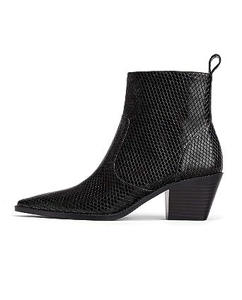 9d39cf301ff4 Amazon.com: Zara Women Animal print cowboy ankle boots 3166/001: Clothing