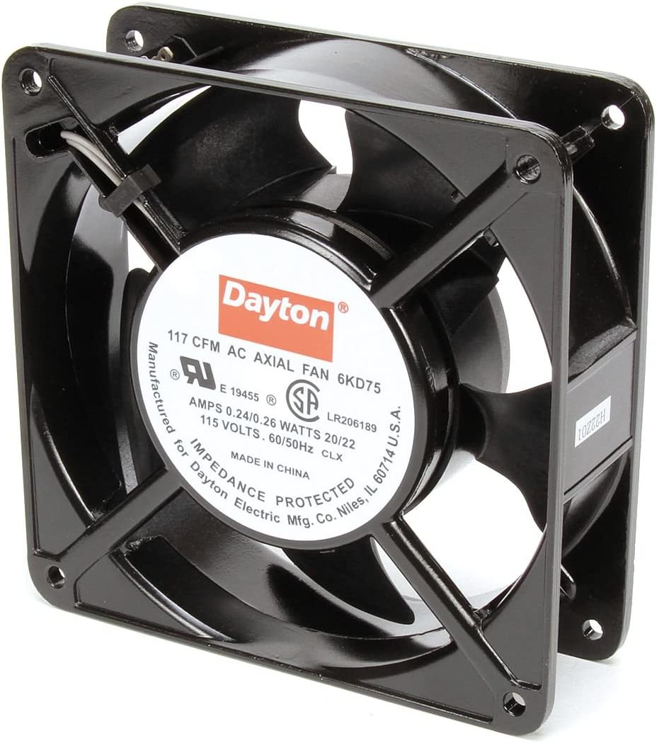 Dayton Axial Fan 115V AC 20 Watts 117 CFM Model 6KD75