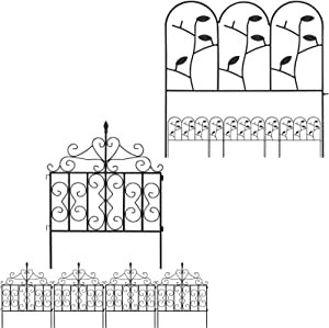 Amagabeli Garden Fence 18inx7ft Bundle Garden Fence 32inx10ft