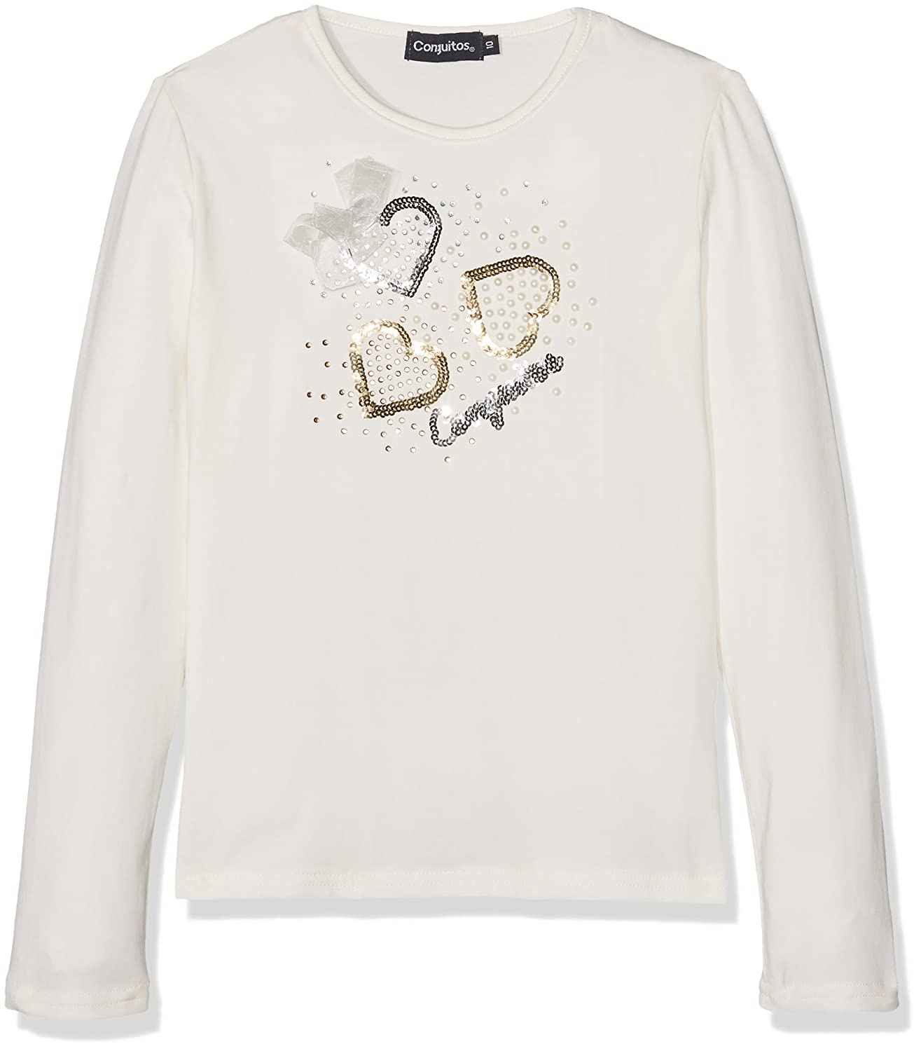Conguitos Girl's Longsleeve T-Shirt (Beige 0043) 8 Years (Size:8A) HIC50000