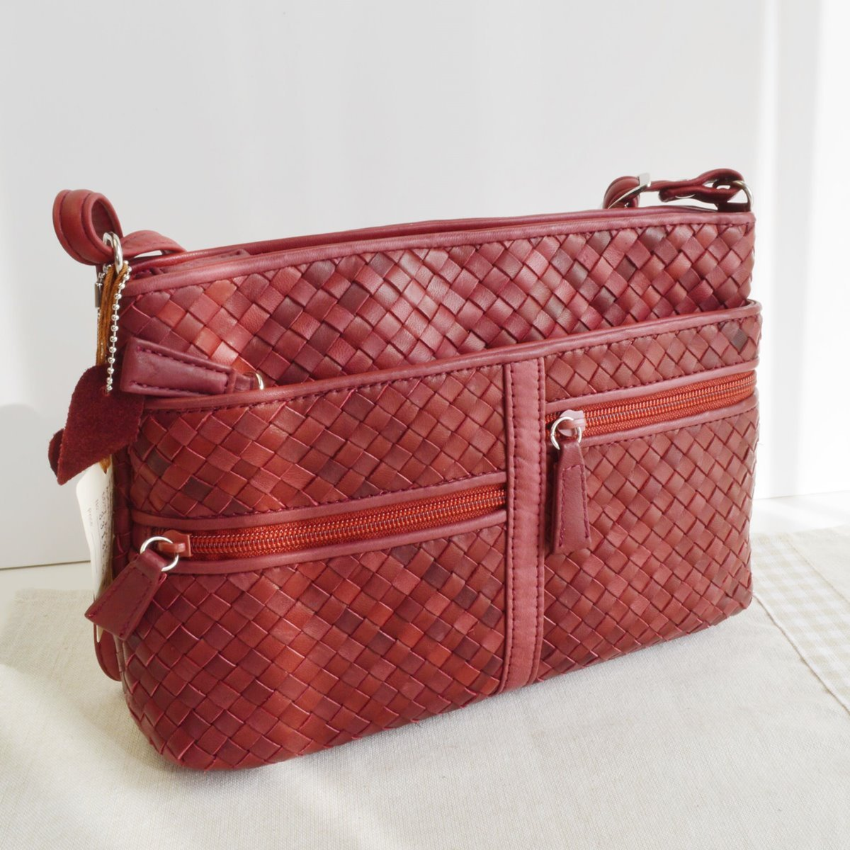 ポニーメッシュ ショルダーバッグ ワインレッド 赤 WINE ポニーレザー 本革 馬革鞄 かばん No.33135 メンズバッグ レディースバッグ bag 日本製馬革 B06X3XX9MY