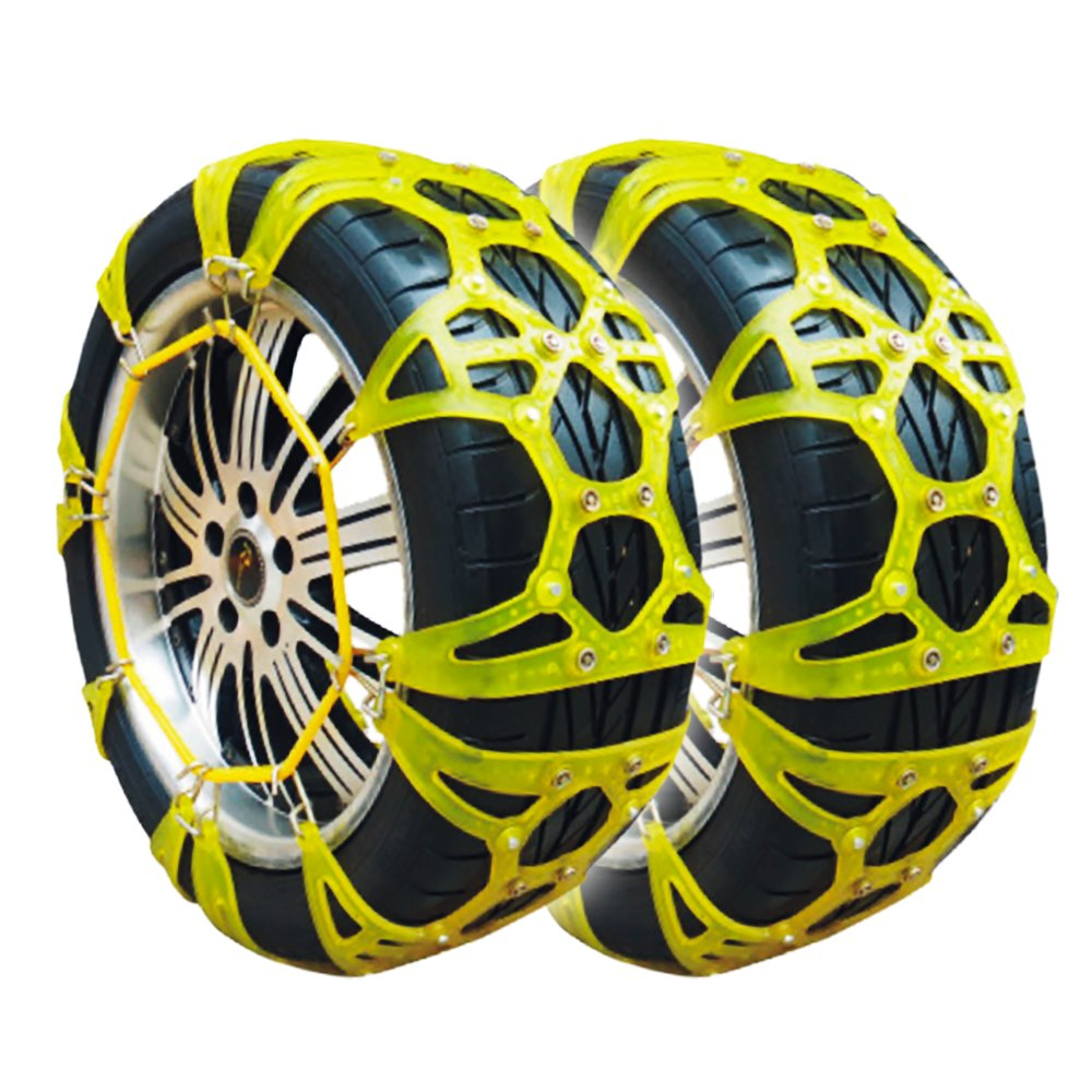 タイヤチェーン スノーチェーン 非金属 30サイズ TPU素材 ジャックアップ不要 B077N6GLJ830サイズ