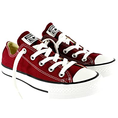 d7f4134262c1 Image Unavailable. Image not available for. Color  Converse Unisex Chuck  Taylor All Star Low Top Maroon ...