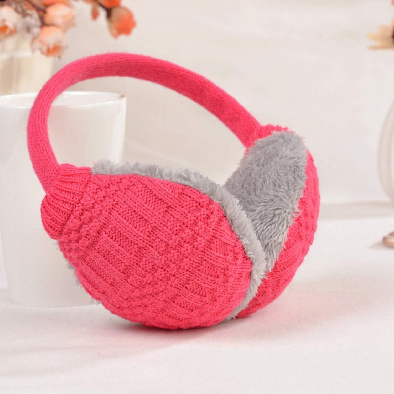Winter Warm Earmuffs Knitted Children Ear Muffs For Boy Earmuffs For Girls Baby Gift Ear Warmers,Pink