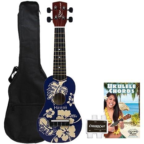 Amazon Sawtooth St Rise Uke Blh Kit 1 Ukulele Blue Hawaii