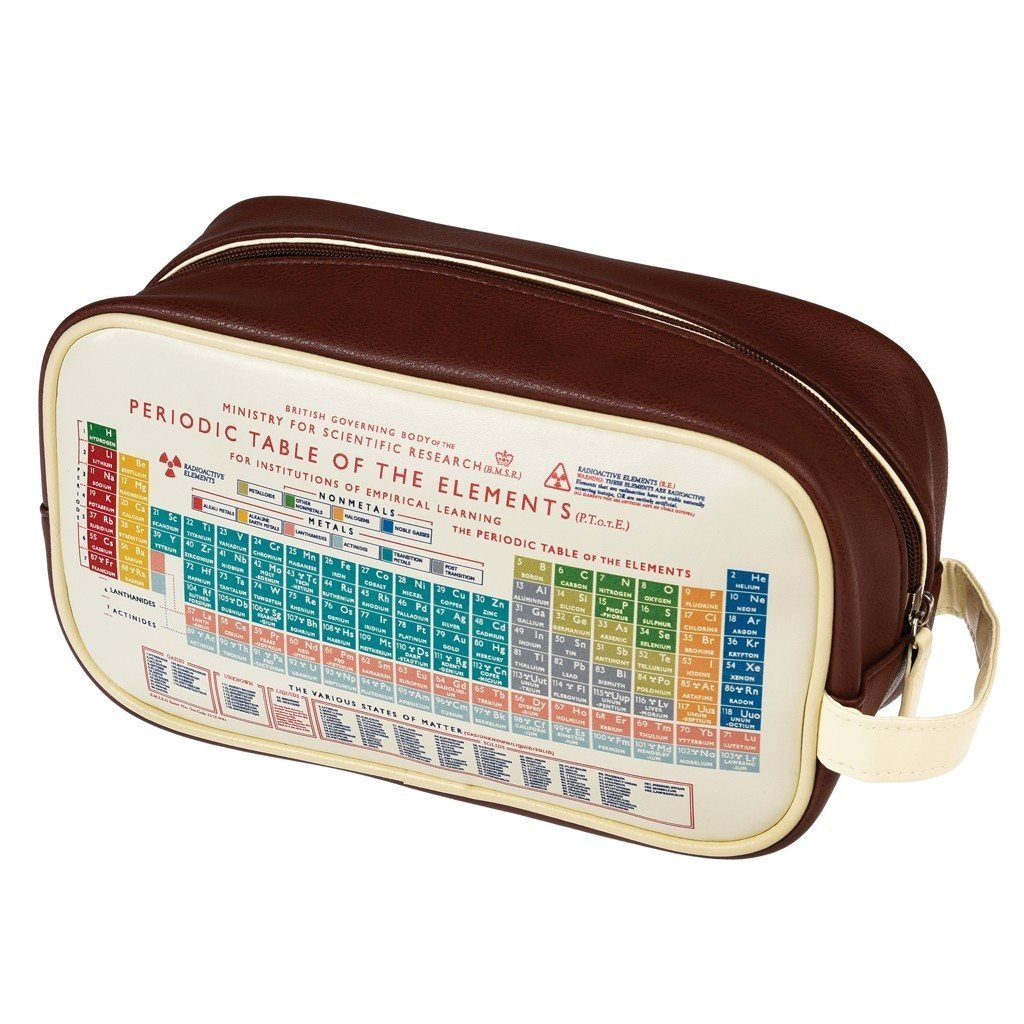 Mens wash bag choice of design periodic table amazon mens wash bag choice of design periodic table amazon kitchen home gamestrikefo Images