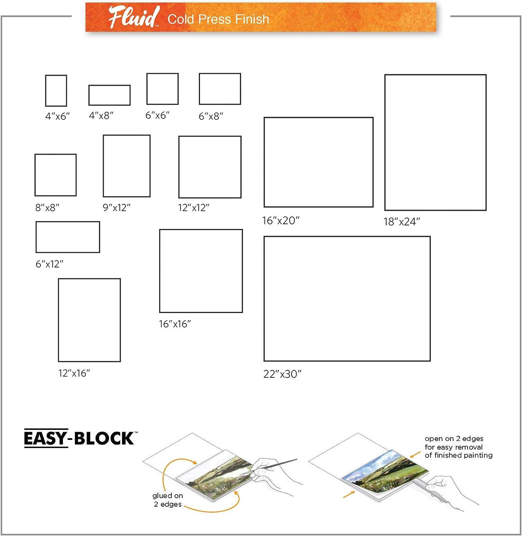 block by Fluid Easy Block Global Art Fluid Watercolor Blocks 16 in x 16 in