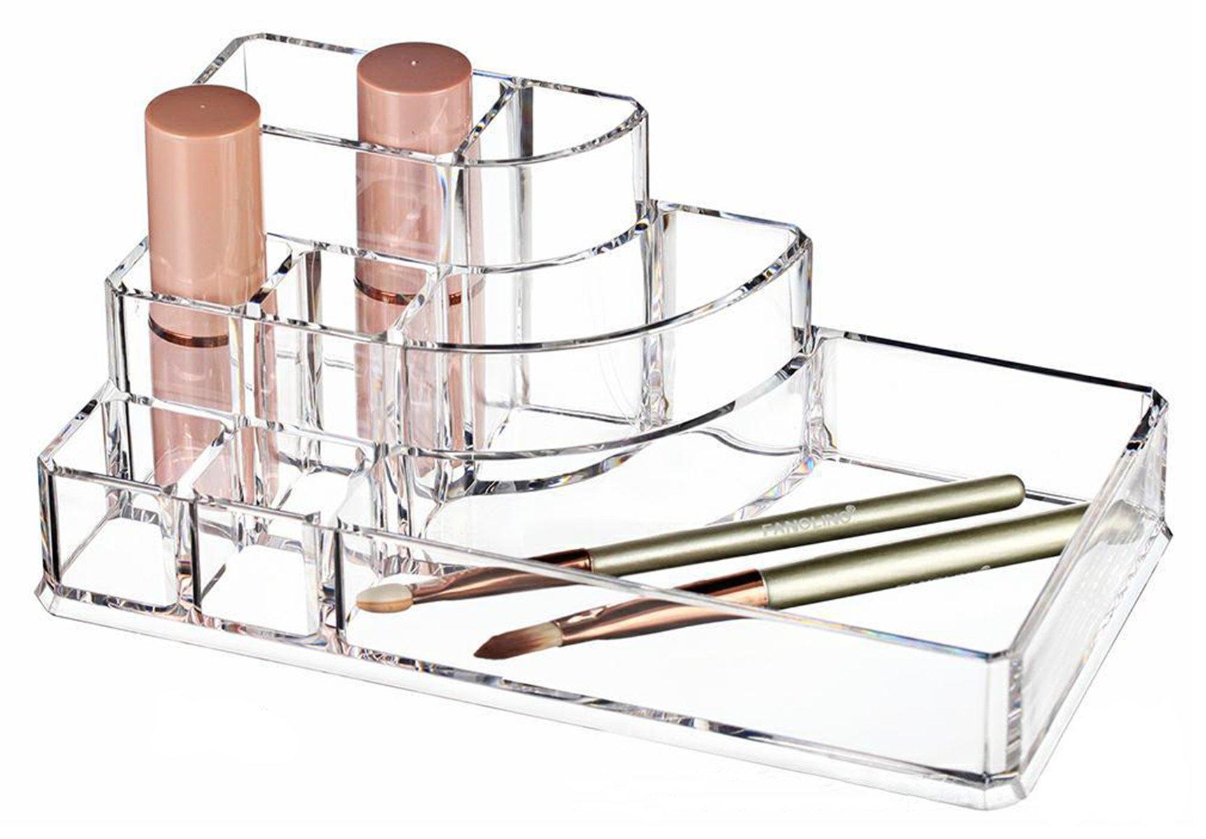 Boxalls Organizzatore Trucchi Trasparente in Acrilico con Scompartimento Alex Gioielli & Slot Cosmetici