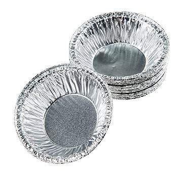 Beddingleer Papel de Aluminio de Magdalenas Molde de Magdalenas Molde de Tarta de Huevo de Taza Mollete Galleta hornada Tarro de aluminio Desechable (250 ...