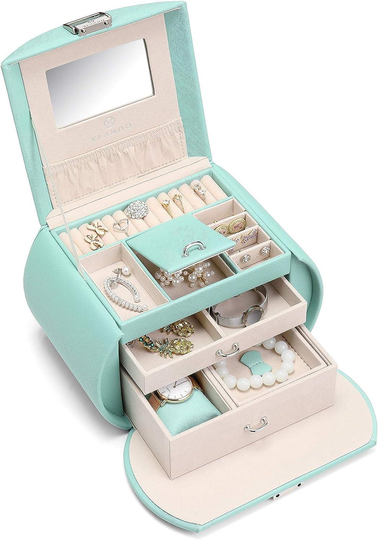 Vlando Princess Style Jewelry Box from Netherlands Design Team, Fabulous Girls Gift (Green)