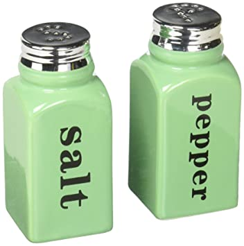 Amazoncom Mint Green Salt Pepper Shaker Set Celadon Ceramic