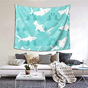 Tapestry Wall Hanging Tapestries, Watercolor Shark Psychedelic Mystic Mural Art Blanket for Living Room Bedroom Home College Dorm Decor, 60 X 51 Inches