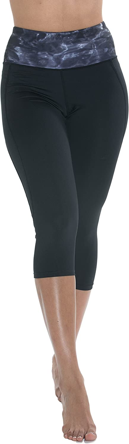 Aqua Design Capri Leggings for Women: High Waisted Cropped Womens Legging