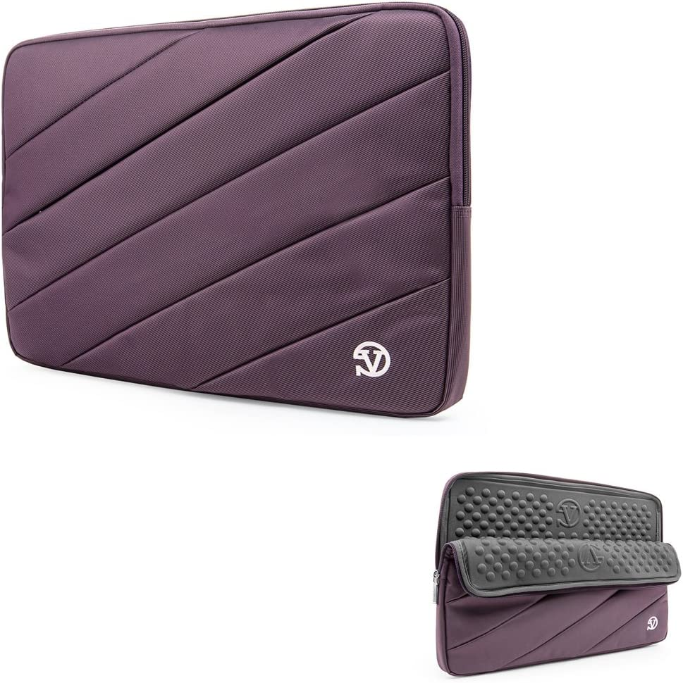 Vangoddy Business Laptop Sleeve Tablet Pouch Carrying Case 12.5 Inch, 13.3 Inch for Dell Inspiron 13, Latitude 11, Latitude 12.5 Inch, XPS 13, Inspiron 13 7000, Inspiron 13 5000, Latitude 13, Purple
