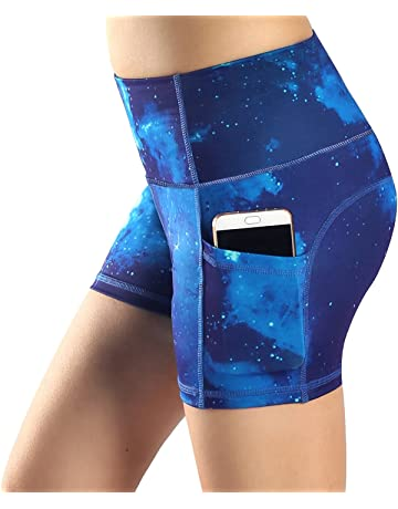 d31c7b3c9f98 Sugar Pocket Yoga Shorts Women s Basic High Waisted Side Pocket Short