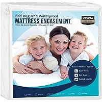 Utopia Bedding Waterproof Zippered Mattress Encasement Cover - Bed Bug Proof, Vinyl Safe and Hypoallergenic Protection