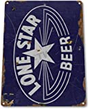 """TIN SIGN """"Lone Star Beer Old"""" Decor Wall Art Bar Pub Beer Shop Store Cave A107"""