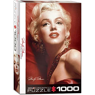 EuroGraphics Marilyn Monroe Red Portrait by Sam Shaw 1000 Piece Puzzle: Toys & Games