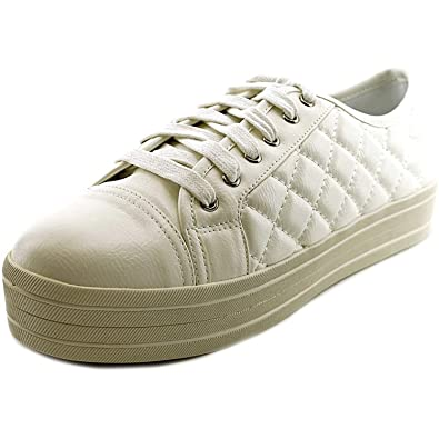 638872d4354 Image Unavailable. Image not available for. Color  Steve Madden Elixer Women s  White Fashion Sneakers ...