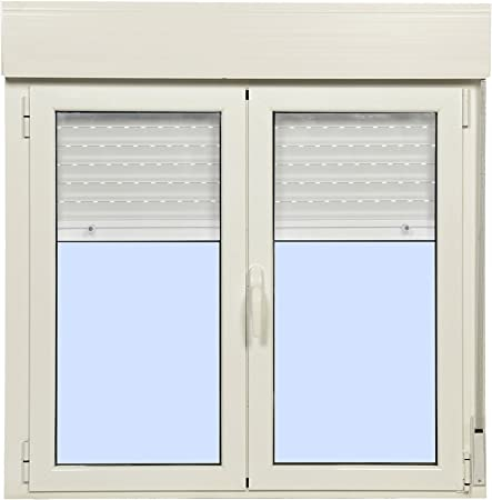 Ventana Aluminio Practicable Oscilobatiente Con Persiana PVC 1000 ...