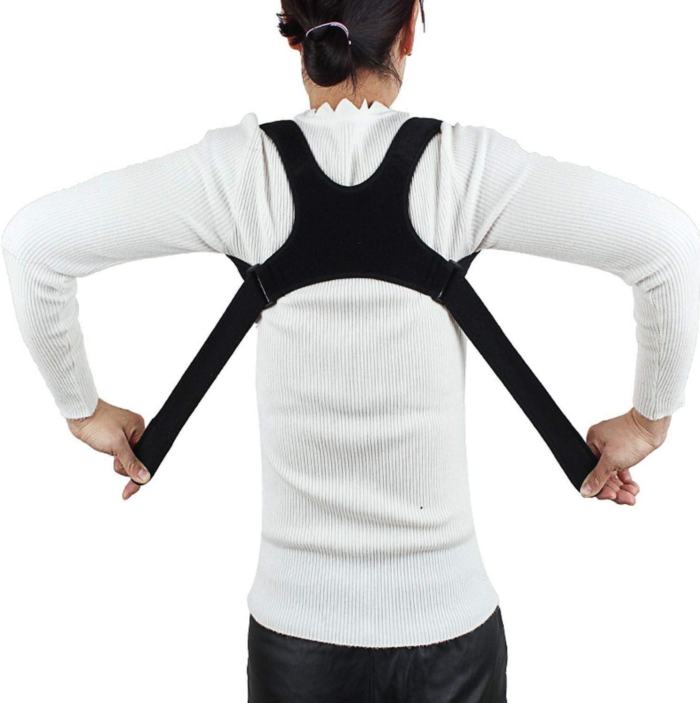Hombro ajustable Soporte de espalda Corrector Corrector de postura Correcci/ón for adultos Ni/ños Hombres Mujeres Estudiantes Empleados de oficina