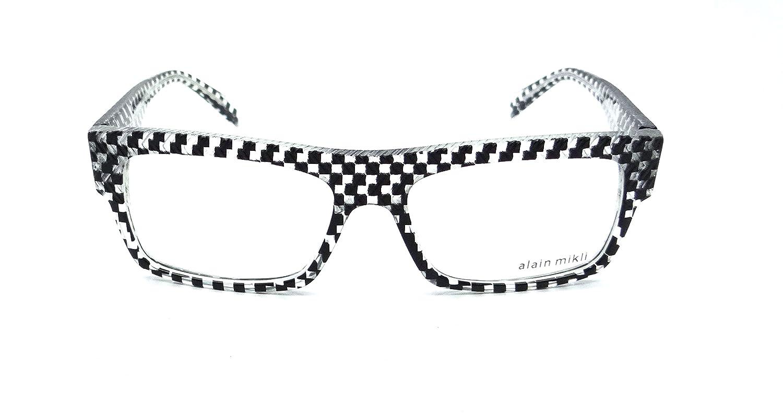 866829cab2 Amazon.com  Alain Mikli Rx Eyeglasses Frames A01344M BP01 54x16 Crystal  Checkered Black  Clothing