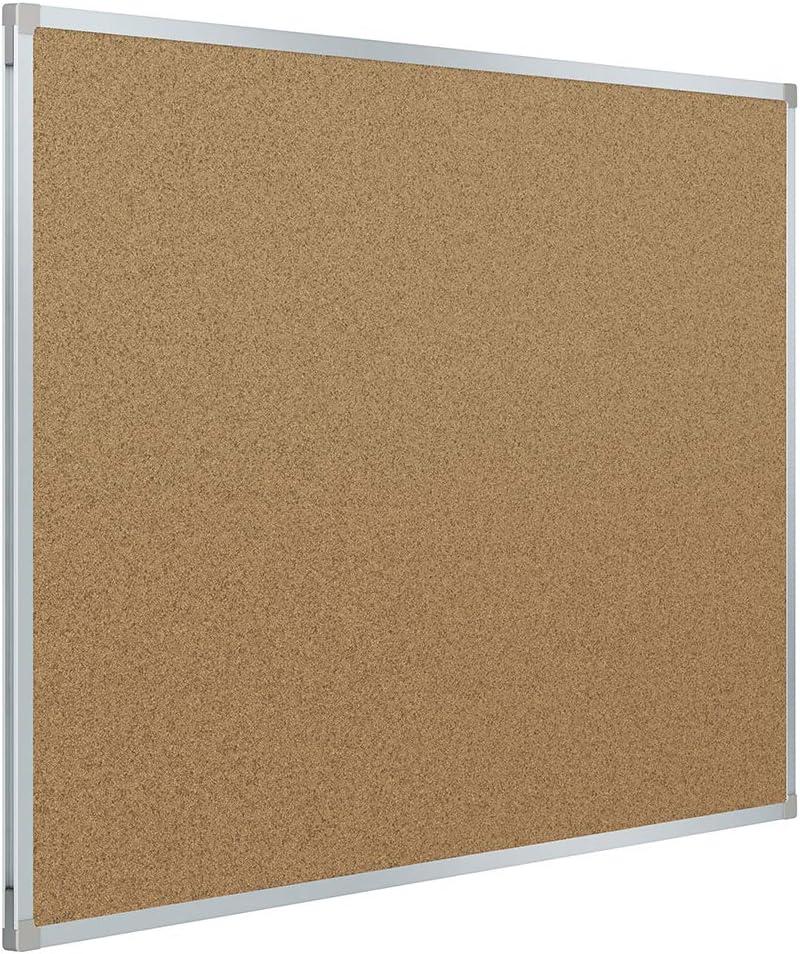 Mead Corkboard, Framed Bulletin Board, 3' x 2', Cork Board, Aluminum Frame (85361)