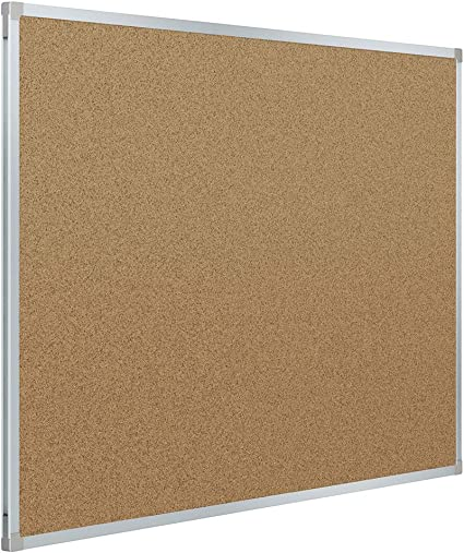 Office Board for Wall Cork Silver Aluminium Framed 2x3 Corkboard Large Wall Mounted Notice Pin Board Board2by Cork Board Bulletin Board 24 x 36