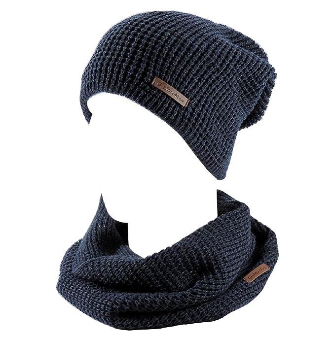 nuovo prodotto 87082 4e2cf GIANMARCO VENTURI Cappello Invernale Uomo con Sciarpa ...