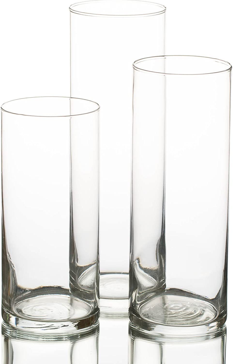 Eastland Glass Cylinder Vase Set of 3