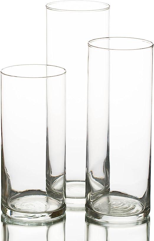 Amazon Com Eastland Cylinder Floating Candle Vase Set Of 36 Home Kitchen