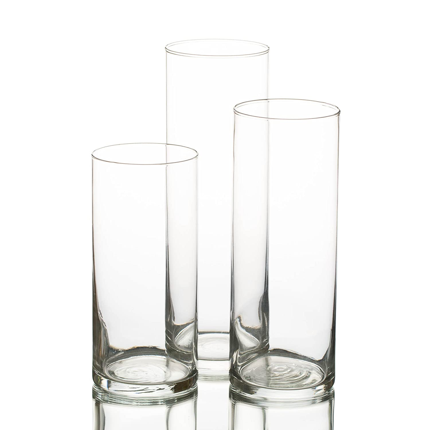 Eastland Glass Cylinder Vase Set of 3 Quick Candles Cyl_Set_3