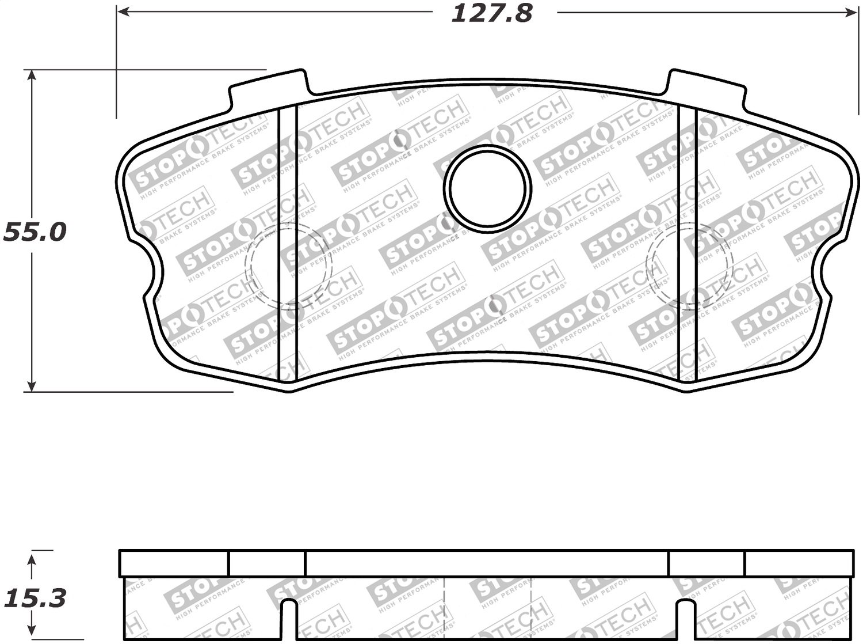 StopTech 309.11851 Street Performance Rear Brake Pad