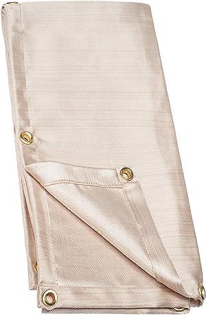 NEIKO 10909A Fiberglass Fire Retardant Welding Blanket | 6' x 8' | Brass Grommets | Thermal Resistant