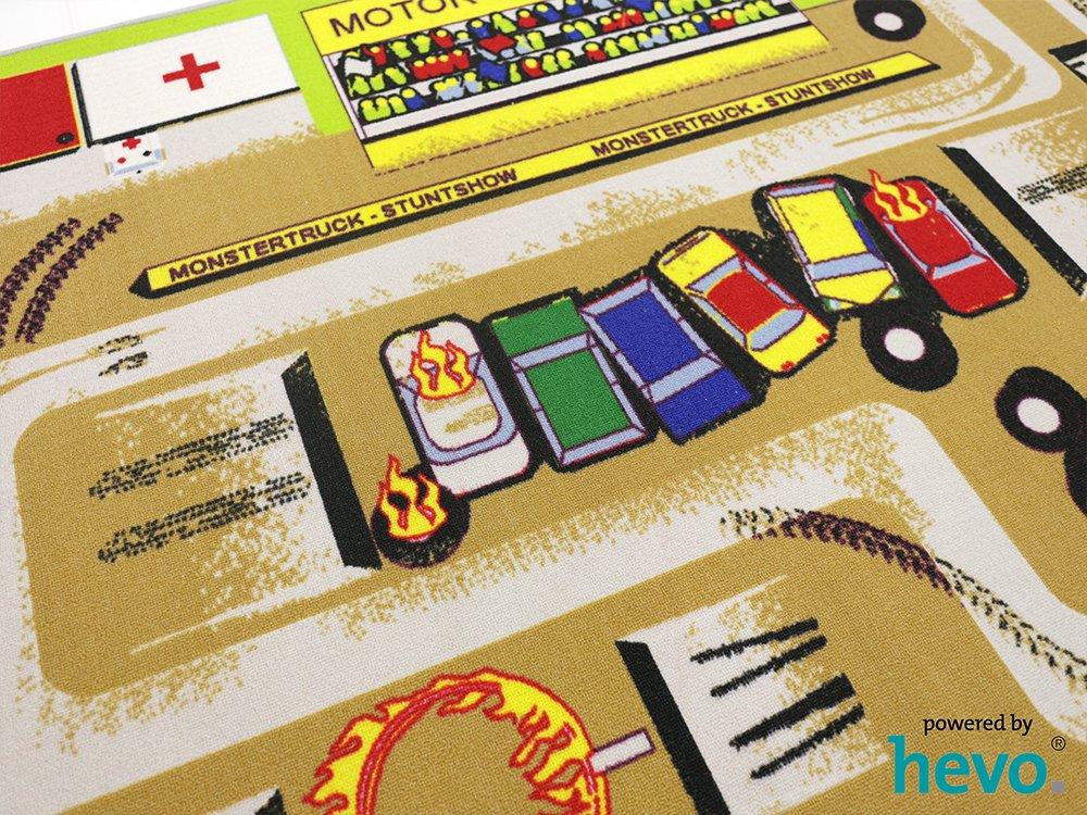 Kinderteppich 137x190cm Feuerwehreinsatz 112 HEVO/® Spielteppich