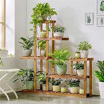 Massivholz Blumen Stand Einfacher Boden Grun Wohnzimmer Balkon