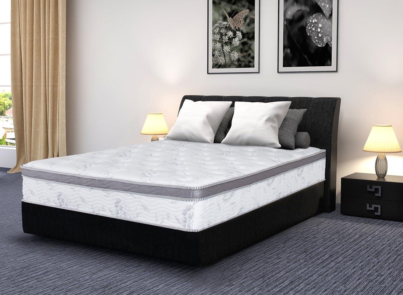 Sleeplace Hybrid Spring Mattress, King, White