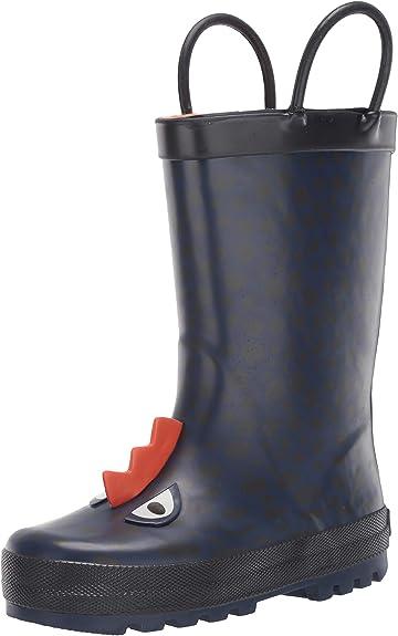 8 M US Toddler Grey carters Boys Marco Rubber Rainboot Rain Boot