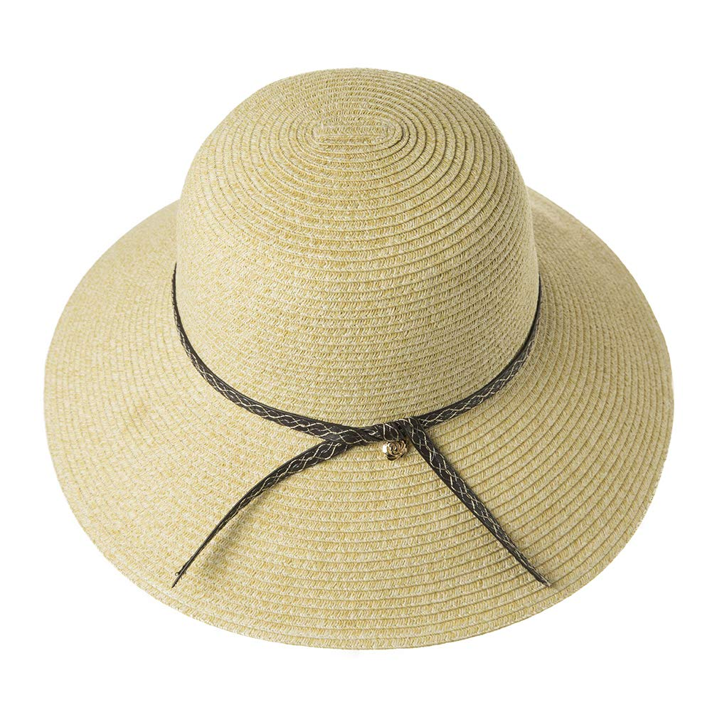c0ab240be Womens UPF 50 Straw Sun Hat Floppy Wide Brim Fashion Beach Accessories  Packable & Adjustable