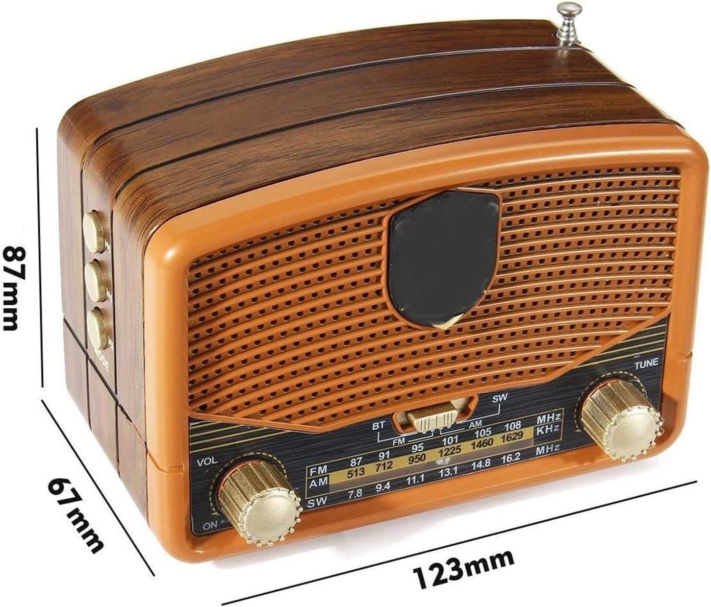Receptor radios Retro del Grano de Madera Mini FM Am SW ...