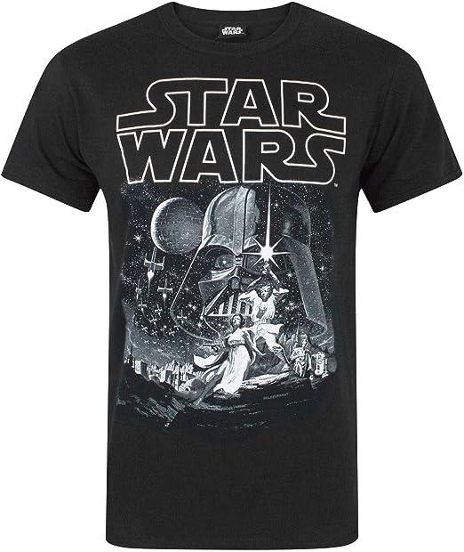 Star Wars Camiseta Nueva Esperanza Cartel Oficial de los Hombres: Amazon.es: Ropa y accesorios