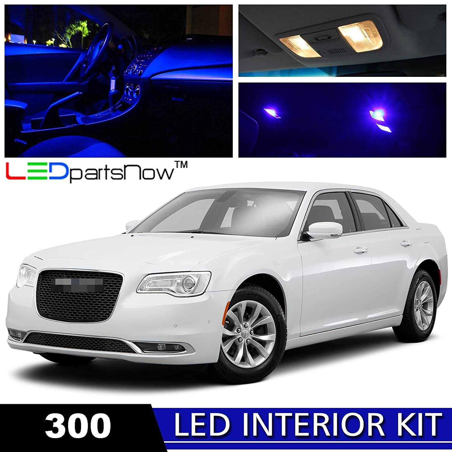 Ledpartsnow 2015 2017 Chrysler 300 Led Interior Lights 2010 Battery Wiring Diagram Accessories Replacement Package Kit 17 Pieces Blue Automotive