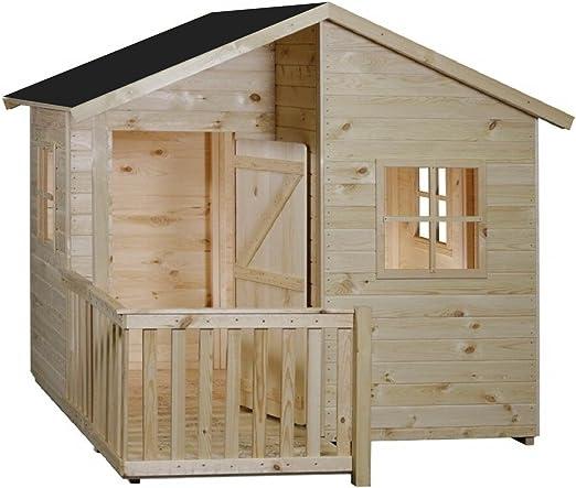 CADEMA - Casa de jardín para niños (madera, 1,8 x 1,4m, 16mm): Amazon.es: Jardín