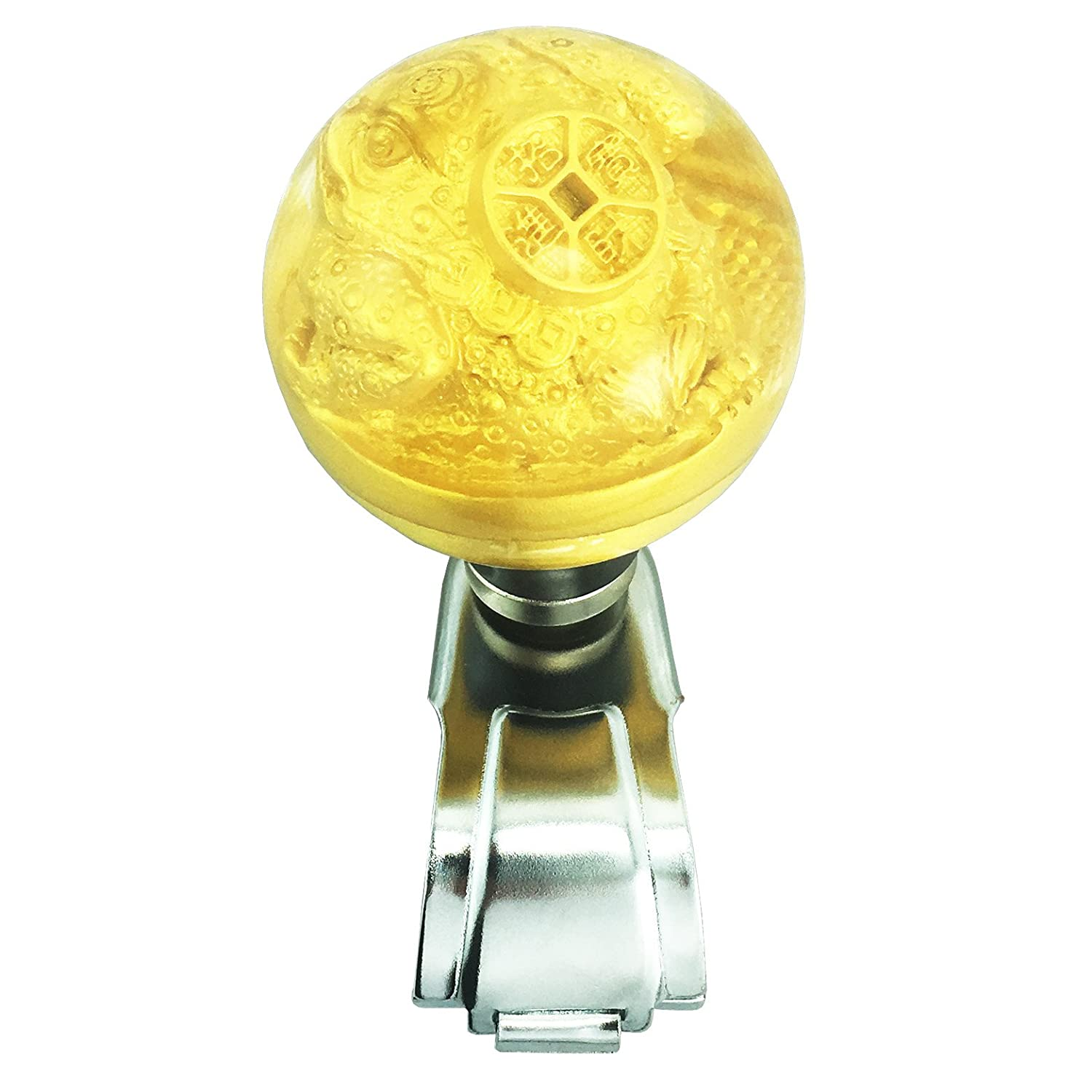 Arenbel Car Steering Wheel Spinner Ancient Country Coin Rotating Suicide Knob Spinners Mounted on Outside Rim of Steering Wheel ARK086-BL086A
