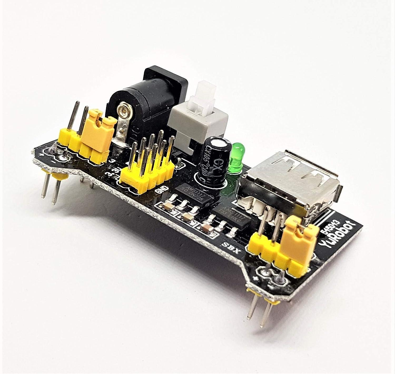 Module d/'alimentation 3.3V 5V MB102 MB-102 pour Breadboard et Arduino 1044Z